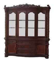 dark wood china cabinet amazon com acme 60006 vendome hutch and buffet china cabinet