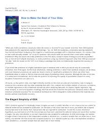 optimal data analysis a guidebook with software for windows