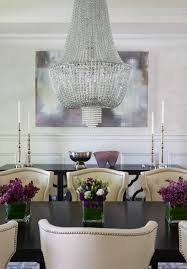 glamorous dining room design with hanging chandelier lillian
