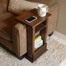 tablette pour canapé canapé chaise bras reste table stand ii avec tablette et pochette
