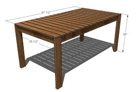 Simple Dining Table Plans White Simple Outdoor Dining Table Diy Projects