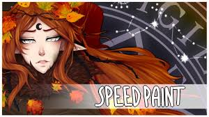happy halloween artwork speedpaint forest witch happy halloween youtube