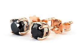 black studs earrings black diamond stud earrings in 9ct gold 2286r qp jewellers