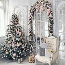 White Christmas Tree Decoration Ideas by Pink And White Christmas Tree Decorations Psoriasisguru Com