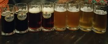 A lovely gradient of colored organic matter concentrations in a variety of local Polish beers  Claire G  Griffin