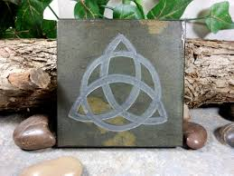 triquetra 4x4 art tile irish trinity knot hand carved