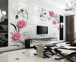 Wallpaper Designs For Living Room Table Design Online - Living room wallpaper design