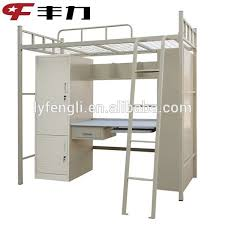 College Used Metal Bunk Bed With Study TableWardrobeBookshelf - Used metal bunk beds