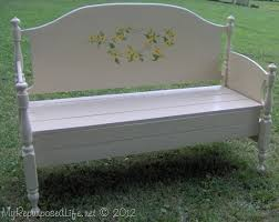 Plans To Build A Toy Box Bench by Headboard Bench Ideas 25 Projects My Repurposed Life