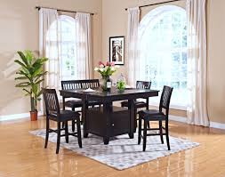Monticello Dining Room Kaylee Espresso Counter Height Storage Dining Room Set From New