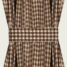 Brown Gingham Curtains Brown Gingham Door Curtain Panels Available In Many Lengths