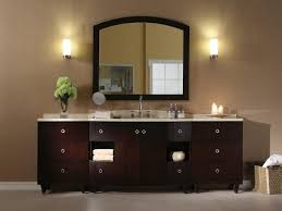 furniture vanity mirrors with white wall lights and brown wooden