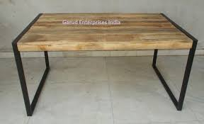mango wood dining table reclaimed mango wood dining table with metal legs garud