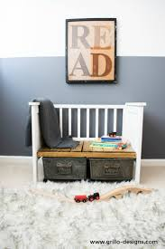 Kids Bench With Storage How To Repurpose An Old Crib 12 Cool Diys Shelterness