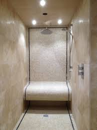 bathroom design mosaic tile with travertine tile with shower room