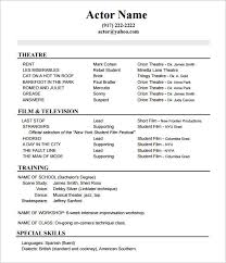 musical theatre resume template musical theater resume template beginning actors exle theatre