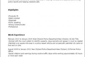 Military Police Officer Resume Sample by Military Police Resume Templates Reentrycorps