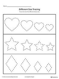 trace and connect dots to draw shapes oval diamond star heart