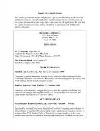 Resume For Government Job Sample Resume For Government Job Cover Letters For Government