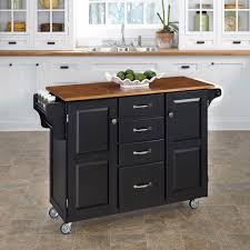 home styles cuisine cart natural kitchen cart with cherry top 9001