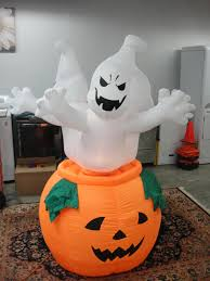halloween inflatable new 6 ft rotating animated halloween inflatable spooky ghosts yard