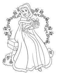 coloriage noel princesse disney