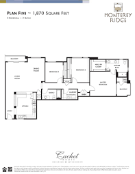 Floor Layout by Floor Plan Five North Scottsdale Area Condo