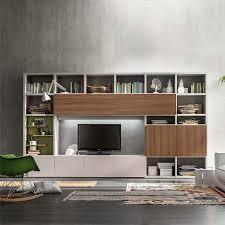 italian tv unit in wood veneer by santa lucia length 324 cm