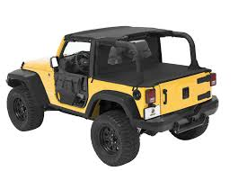 jeep wrangler unlimited soft top bestop duster u0026 windjammer with mesh for 07 09 jeep