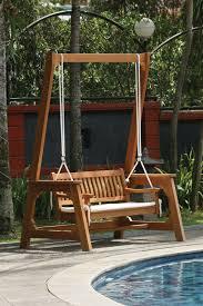 home design fancy garden chair swing teak outdoor furniture