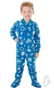hanukkah clothing footed pajamas hanukkah fleece clothing