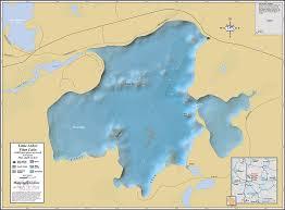 map of arbor arbor vitae lake wall map