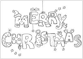 merry greeting card coloring page school ideas