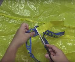 stain proof men u0027s apron from 2 frakta bags ikea hackers ikea