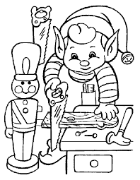 coloring pages santa elves coloring pages santa elves