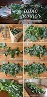 Diy Thanksgiving Table Runner The Chic Site by How To Make A Fresh Greenery Table Runner Greenery Table