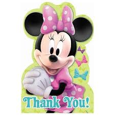 minnie mouse thank you cards minnie mouse thank you cards 8 ct zurchers