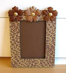 Cheap Zebra Room Decor by Cheetah Print Altered Picture Frame Idea For Gift I Want To