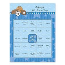 baby shower bingo all sports personalized baby shower bingo cards