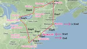 map east coast canada 8 day east coast us canada w airport transfers