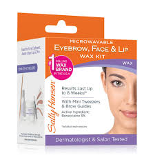 How To Shape Eyebrows With Tweezers Sally Hansen Wax Strips Hair Remover Kit For Face Brows U0026