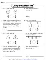 comparing u0026 ordering fractions worksheets