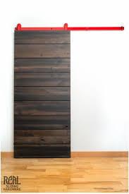 real sliding hardware cedar horizontal plank barn door 715 00
