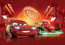 chambre mcqueen wall mural photo wallpaper 254x184cm lightning mcqueen disney cars