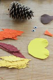 turkey craft for kids pine cone turkeys crafts unleashed