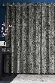 buy crushed velvet eyelet blackout curtains from next usa