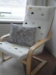 Ikea Baby Chair Cushion Furniture Elegant White Ikea Poang Chair With Decorative Cushions