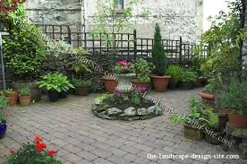 Patio Container Garden Ideas Courtyard Patio Container Garden