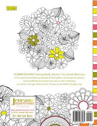 1 flower designs coloring book an coloring book for stress