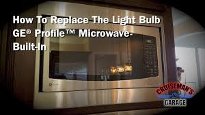 replace bulb in ge profile microwave built in